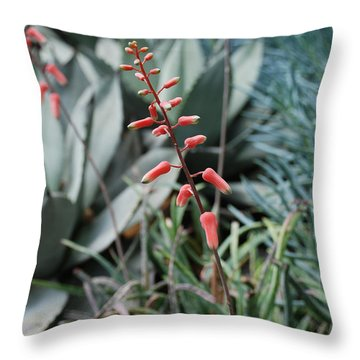 Throw Pillow featuring the photograph Unique Flower by Jennifer Ancker