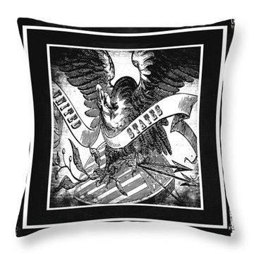 United States Bw Throw Pillow by Angelina Vick