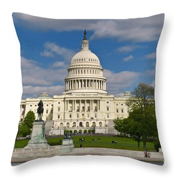 Throw Pillow featuring the photograph United States Capitol by Jim Moore