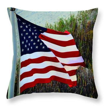 United States Of America Throw Pillow