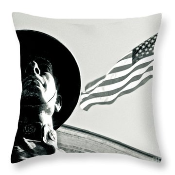 United We Stand Theme Throw Pillow by Syed Aqueel