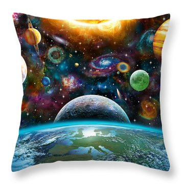 Universal Light Throw Pillow by Adrian Chesterman