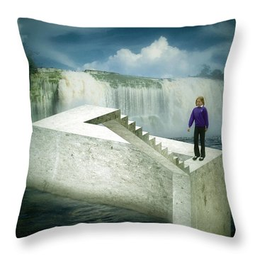 Unstair Throw Pillow