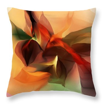 Untitled 100612 Throw Pillow by David Lane