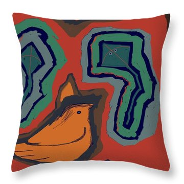 Untitled 25 Throw Pillow by Vilas Malankar