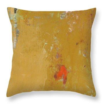 Untitled Abstract - Ochre Cinnabar Throw Pillow