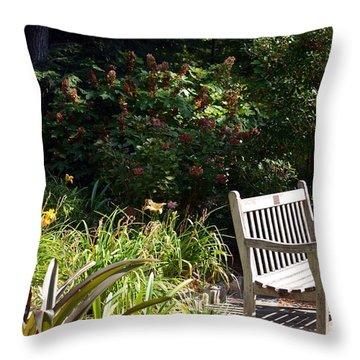 Unwind Throw Pillow by Maria Urso