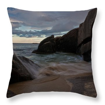 Up And Over Throw Pillow by Greg DeBeck