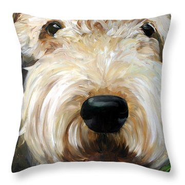 Up Close  Throw Pillow by Mary Sparrow