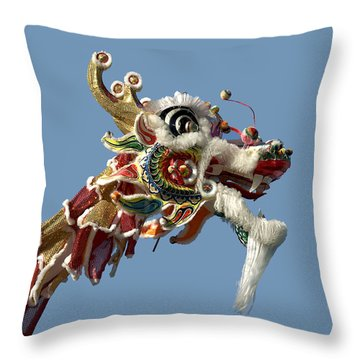 Up Close With A Dragon Throw Pillow