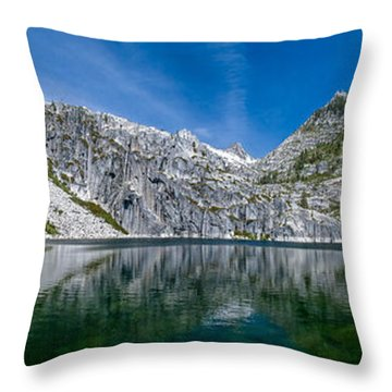 Upper Canyon Creek Lake Panorama Throw Pillow