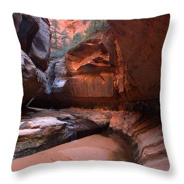Upper Subway Throw Pillow