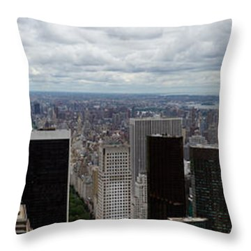 Uptown New York And Central Park Throw Pillow