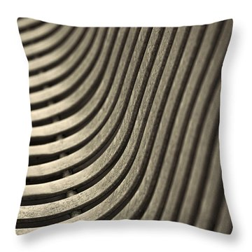 Upward Curve. Throw Pillow by Clare Bambers