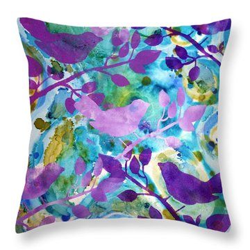 Urban Garden Throw Pillow