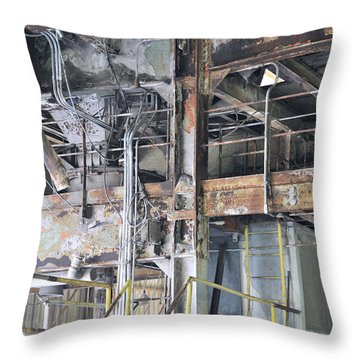 Urban Industrial Decay 2 Throw Pillow