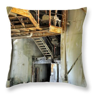 Urban Industrial Decay 3 Throw Pillow