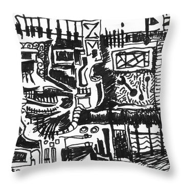 Urban Monster 2 Throw Pillow