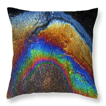 Urban Rainbow Throw Pillow by Dale   Ford