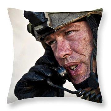 U.s. Air Force Sergeant Calls Throw Pillow by Stocktrek Images