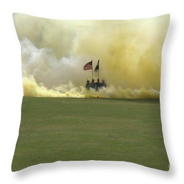 Throw Pillow featuring the photograph Us Army Graduation by Michael Waters
