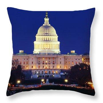 U.s. Capitol Throw Pillow