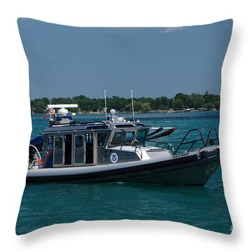 U.s. Customs Border Protection Throw Pillow