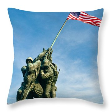 U.s Marine Corps Memorial Throw Pillow by Dan Wells