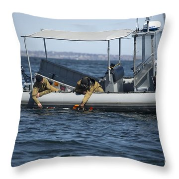 U.s. Sailors Deploy An Unmanned Throw Pillow by Stocktrek Images