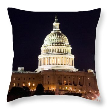 Us Senate Throw Pillow by Syed Aqueel