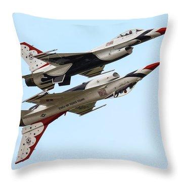 Usaf Thunderbirds Display Pair Throw Pillow by Ken Brannen