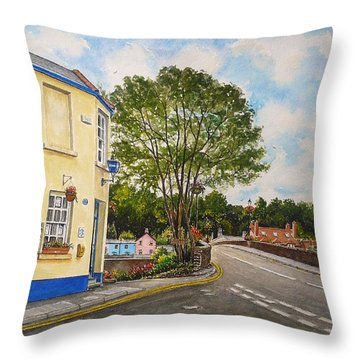 Usk Police Station  Throw Pillow by Andrew Read