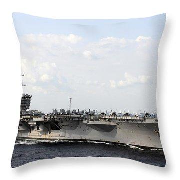 Uss Carl Vinson Underway In The Arabian Throw Pillow by Stocktrek Images