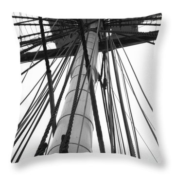 Uss Constitution Mast Throw Pillow by David Yunker