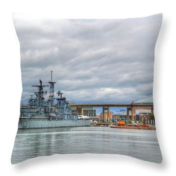 Throw Pillow featuring the photograph Uss Little Rock by Michael Frank Jr