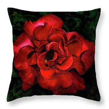 Valentine Rose Throw Pillow by Mariola Bitner