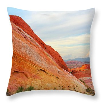 Valley Of Fire - A Pristine Beauty Throw Pillow by Christine Till