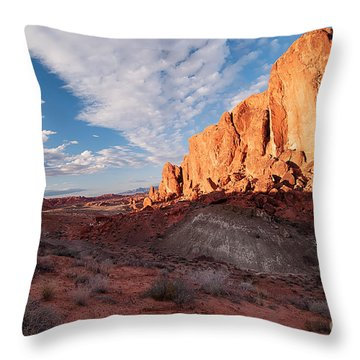 Throw Pillow featuring the photograph Valley Of Fire by Art Whitton
