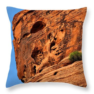 Valley Of Fire Nevada - A Special Place Throw Pillow by Christine Till