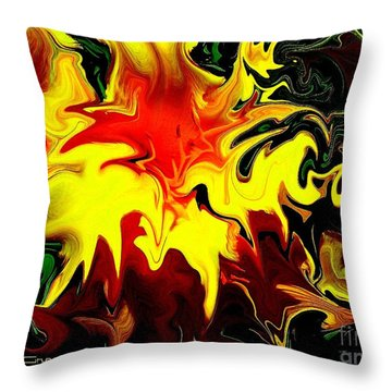 Van Gogh Lily Throw Pillow