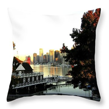 Vancouver At Sundown Throw Pillow by Will Borden
