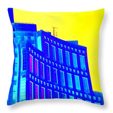 Vancouver Library 3 Throw Pillow by Randall Weidner