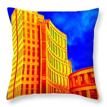 Vancouver Library 4 Throw Pillow by Randall Weidner