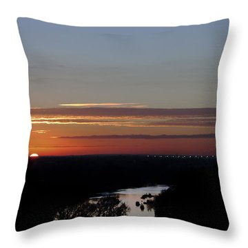 Throw Pillow featuring the photograph Vanishing Sunset by Maj Seda