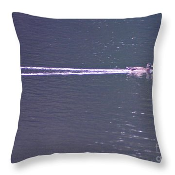 Throw Pillow featuring the photograph Vapor Trail by Cindy Lee Longhini