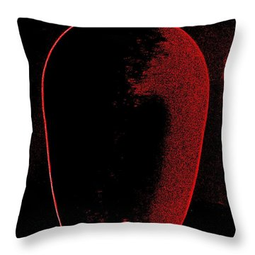 Vase On Black Throw Pillow by Randall Weidner