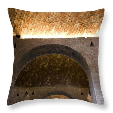 Throw Pillow featuring the photograph Vaulted Brick Arches by Lynn Palmer
