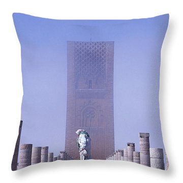 Veiled Woman Walking Infront Of Hassan Throw Pillow by Axiom Photographic