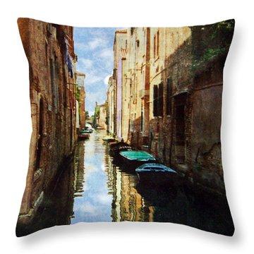 Throw Pillow featuring the photograph Venice Canal by Deborah Smith