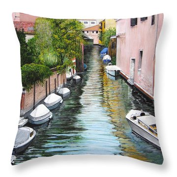 Venice Canal Throw Pillow by Stuart B Yaeger